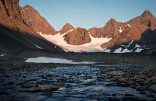 Kaskasatjåkka with glacier
