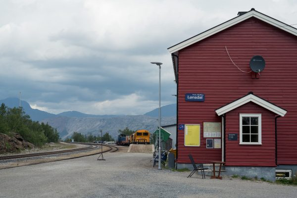 Lønsdal train station, the endpoint of our hike
