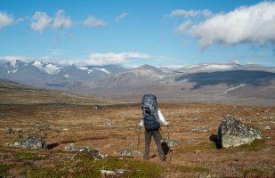 Walking on towards the mountains
