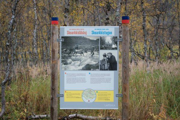 New information board at the Skårki hut