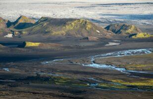 View towards Mýrdalsjökull