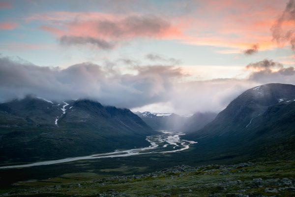 Evening view of Rapadalen