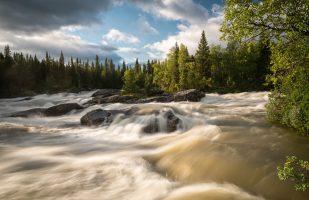 Gamajåhka rapids at Kvikkjokk
