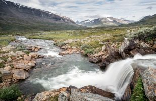 Small waterfall in upper Rapadalen