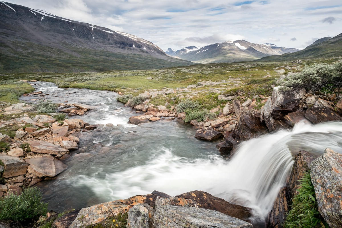 Small waterfall in upper Rapadalen