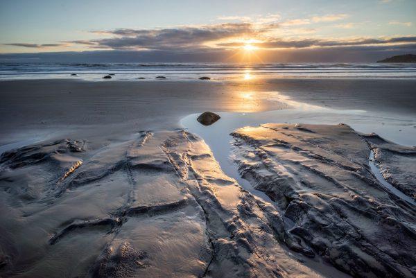 Moeraki sunrise without boulders