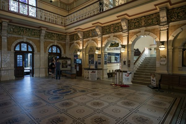 Inside Dunedin's train station