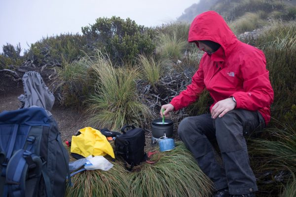 Breakfast on Kepler Track