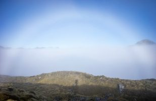 Fogbow with my shadow