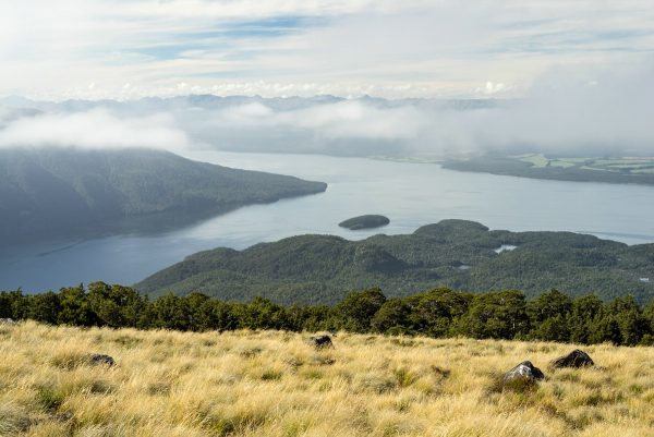 View of Lake Te Anau from Kepler Track