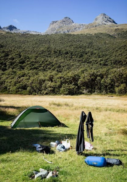 Campsite near Lake Howden