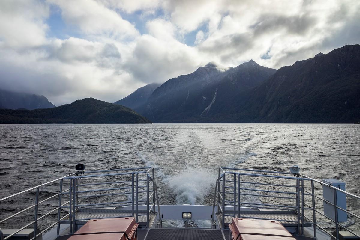Back across Lake Manapouri