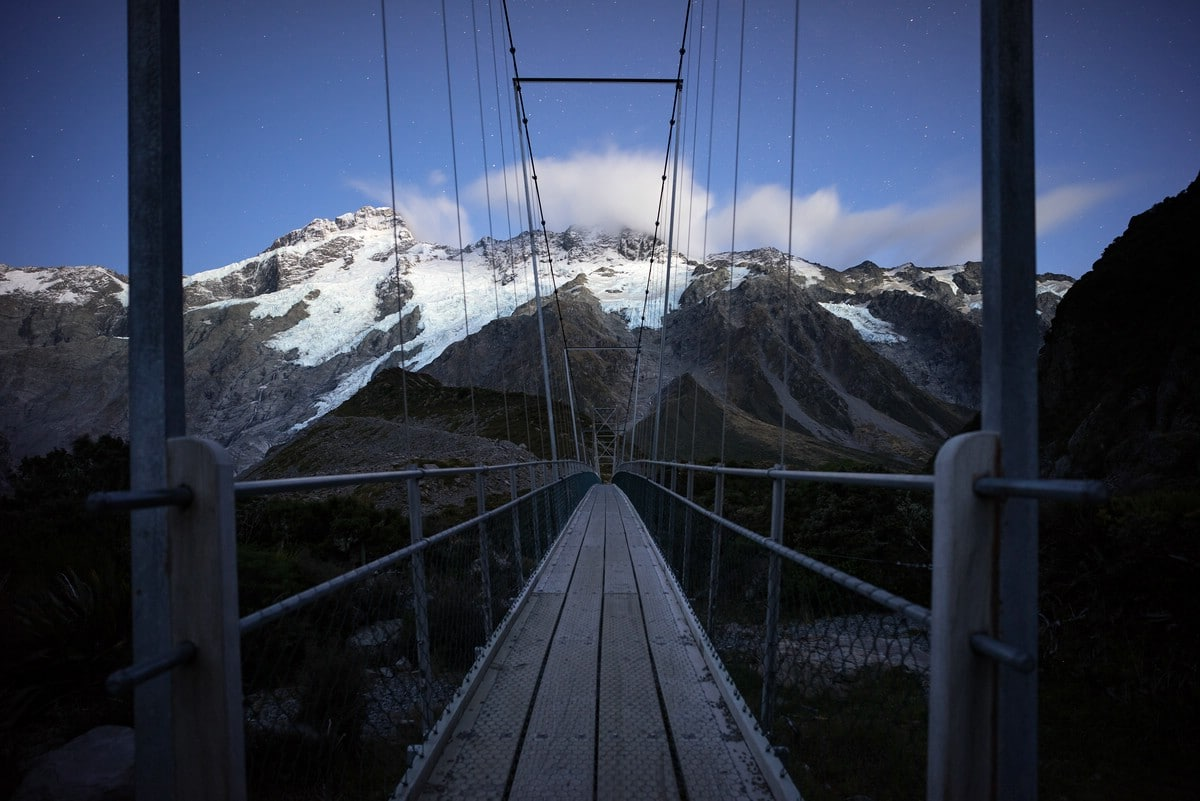 Bridge in Hooker Valley