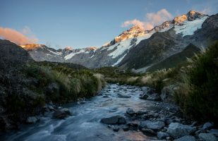 Mount Sefton from Hooker Valley
